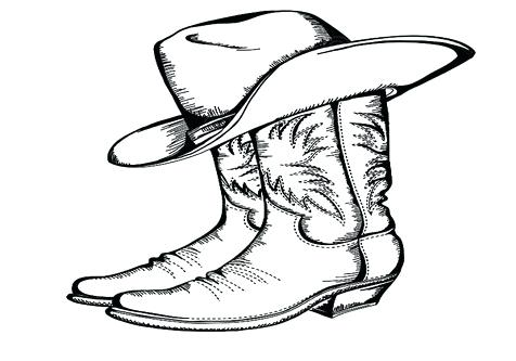 cowboy boots coloring pages # 45