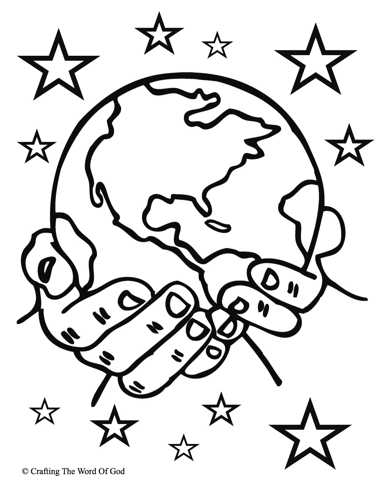 Creation Coloring Pages For Toddlers At Getcolorings