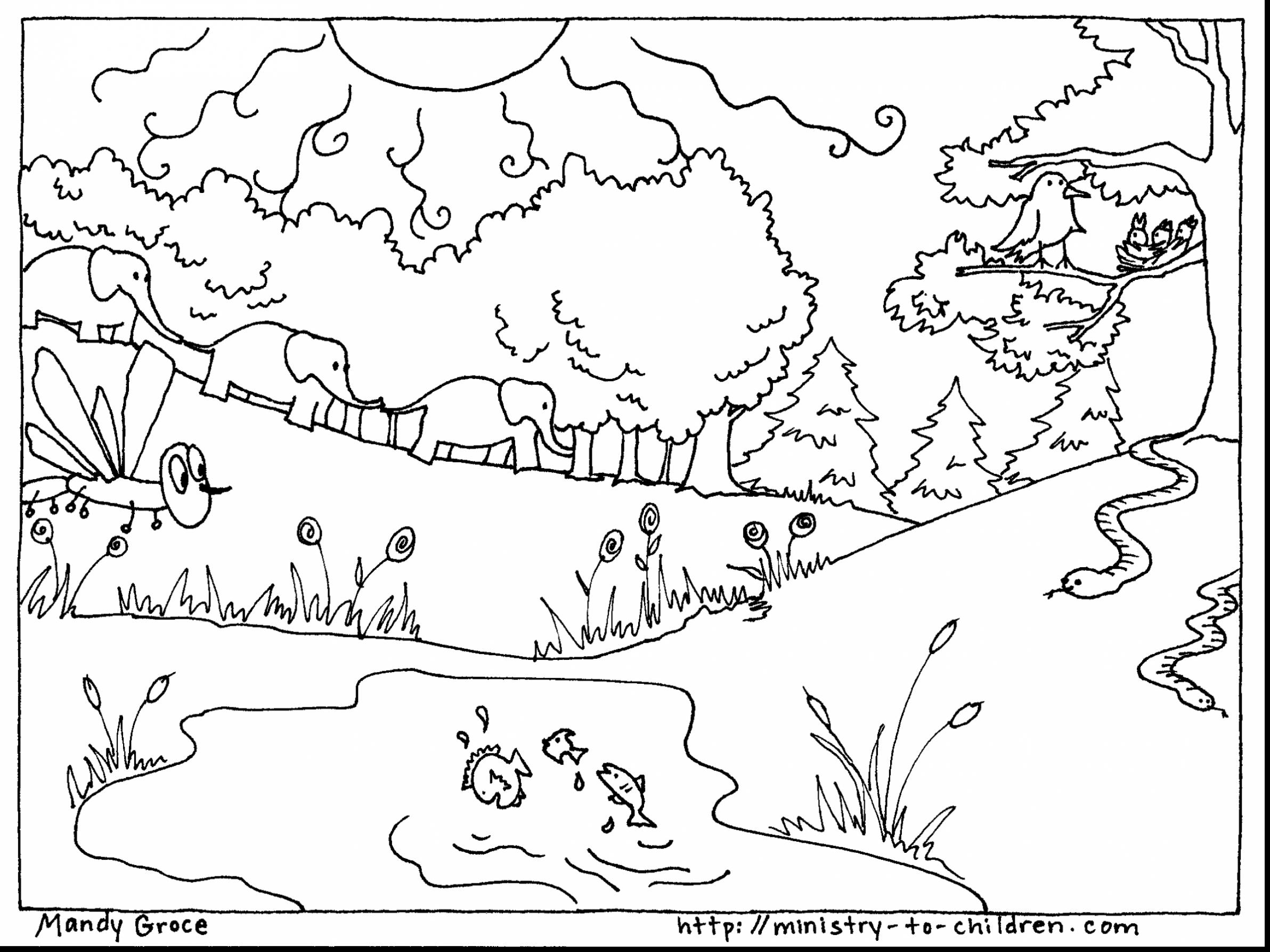 Creation Numbers Coloring Pages At Getcolorings