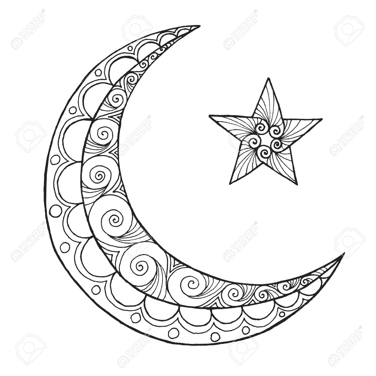 Crescent Moon Coloring Page At Getcolorings