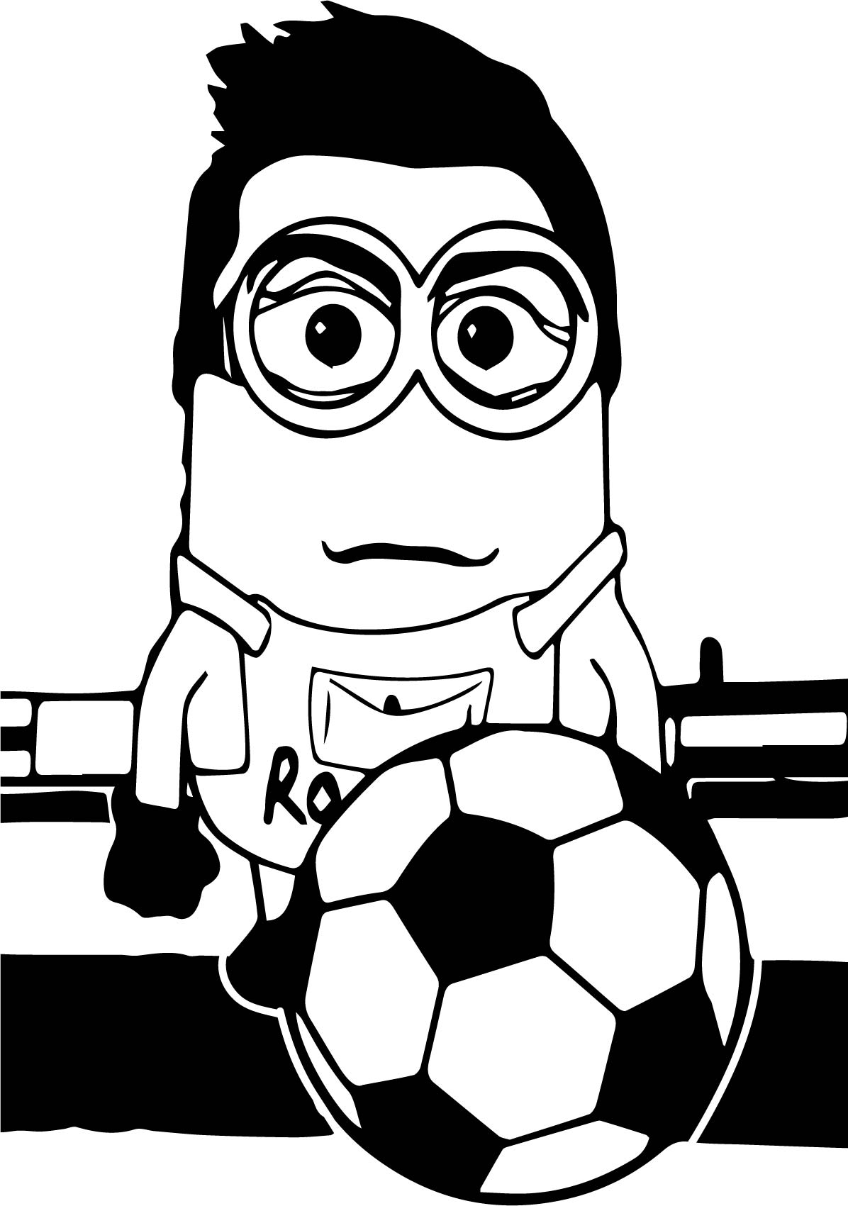 Cristiano Ronaldo Coloring Pages at GetColorings.com