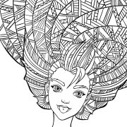 curly hair coloring pages