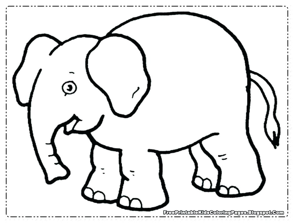 Cute Baby Elephant Coloring Pages at GetColorings.com