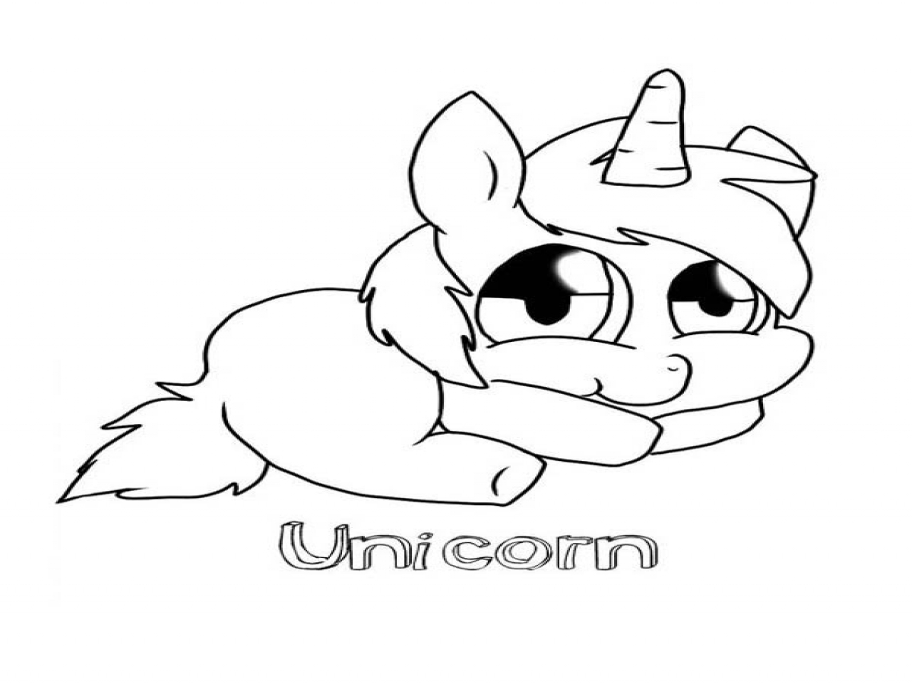 Cute Baby Unicorn Coloring Pages at GetColorings.com