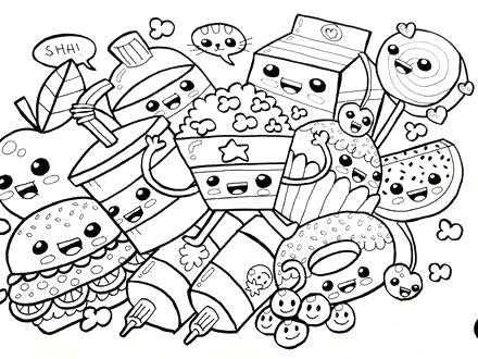 Coloriage Smiley Kawaii.20 Breakfast Food Kawaii Coloring Sheets Ideas And Designs