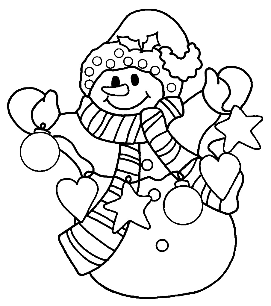 Cute Snowman Coloring Pages at GetColorings.com | Free printable colorings pages to print and color