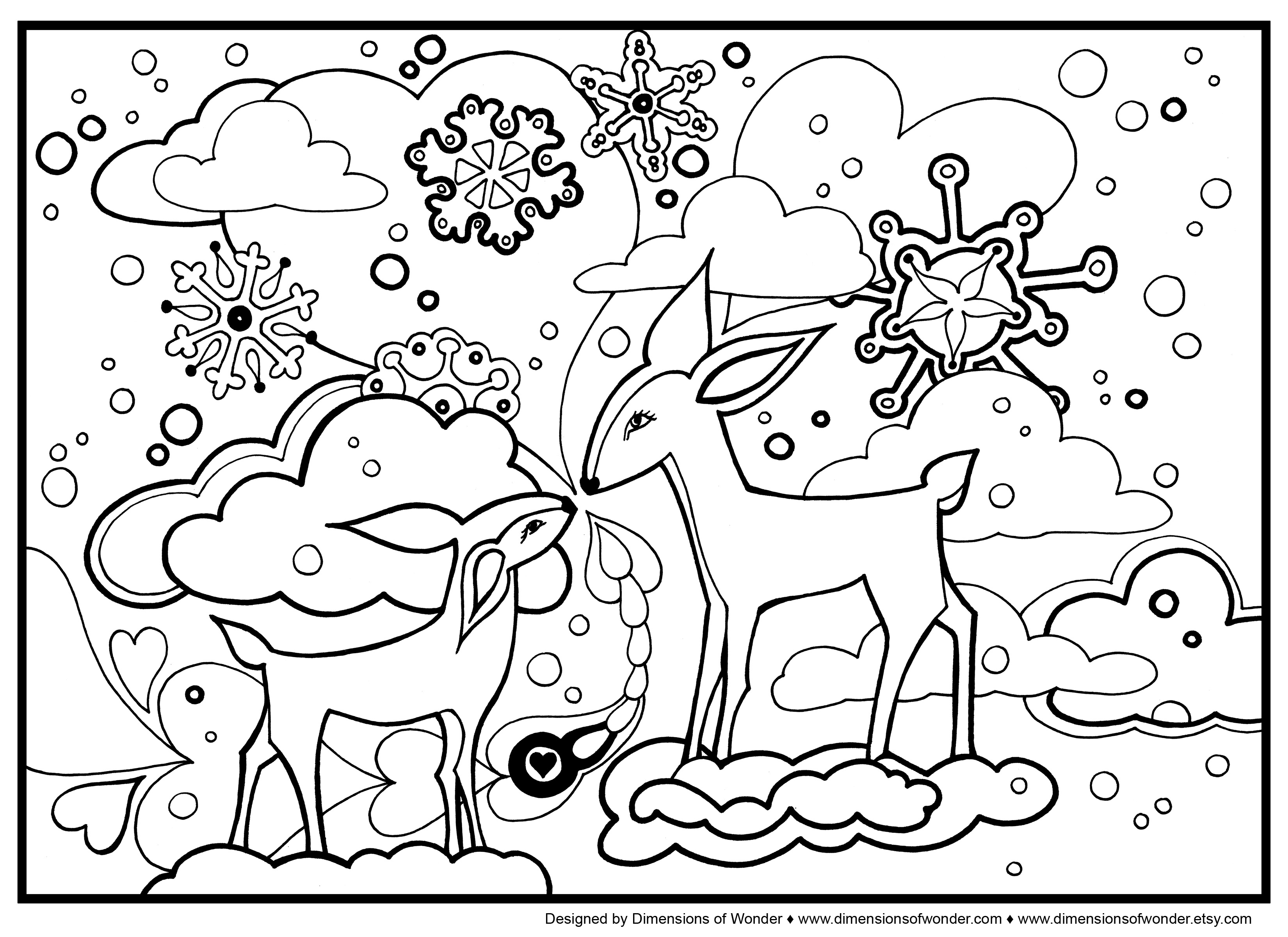 Cute Winter Coloring Pages At Getcolorings