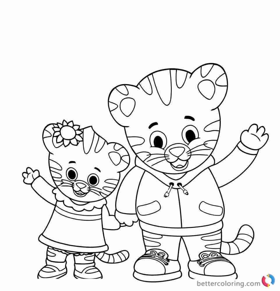Daniel Tiger Free Coloring Pages at GetColorings.com
