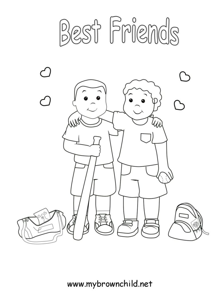 David and jonathan friendship coloring pages at