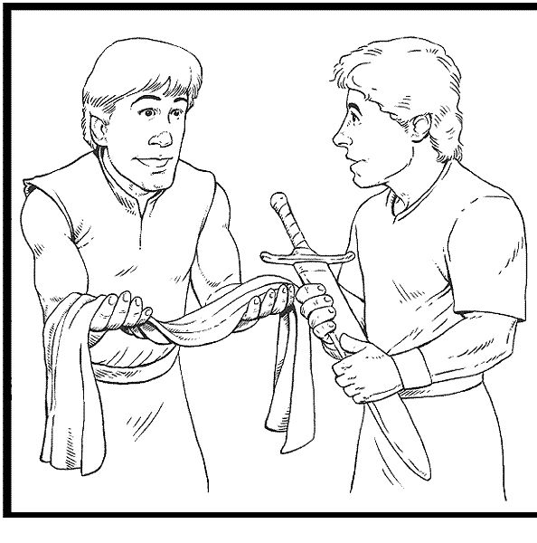 David And Jonathan Friendship Coloring Pages at