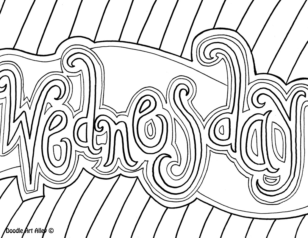 Days Of The Week Coloring Pages At Getcolorings