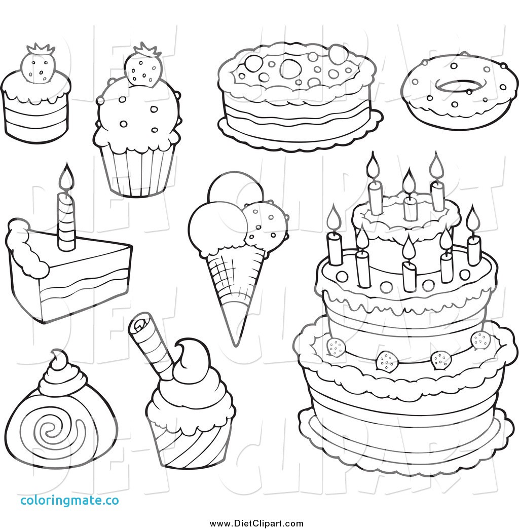 Dessert Coloring Pages At Getcolorings
