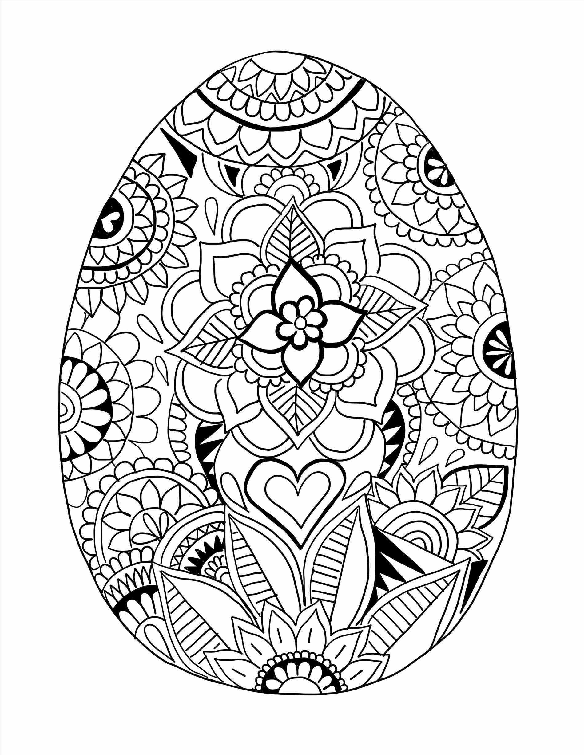 Detailed Easter Egg Coloring Pages At Getcolorings
