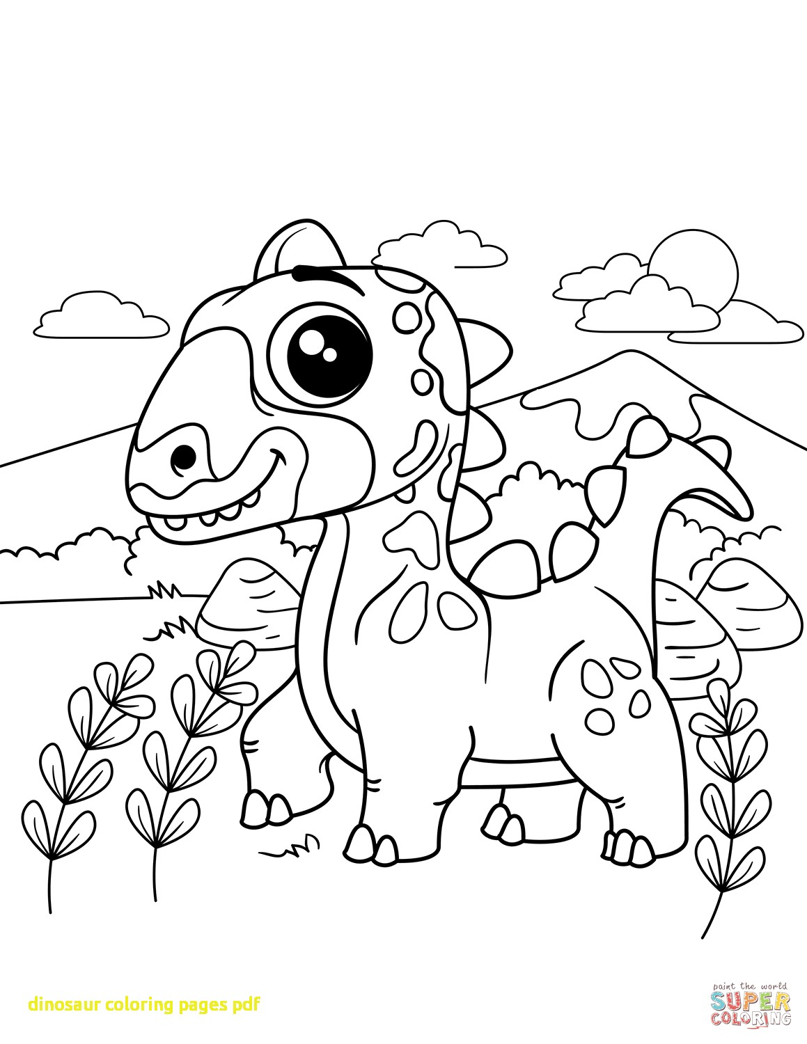 Dinosaur Coloring Pages At Getcolorings