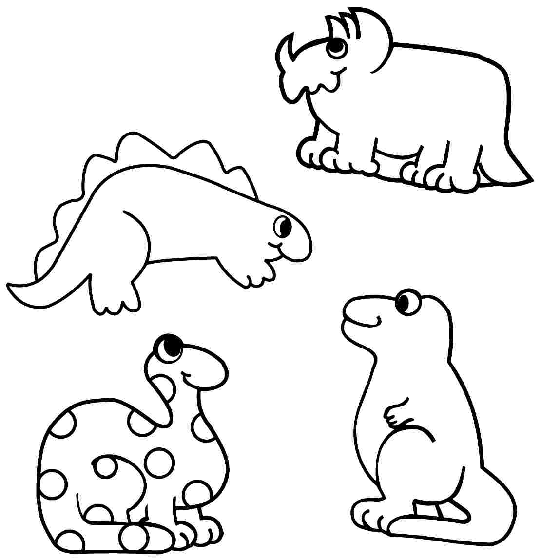Dinosaur Coloring Pages Preschool At Getcolorings