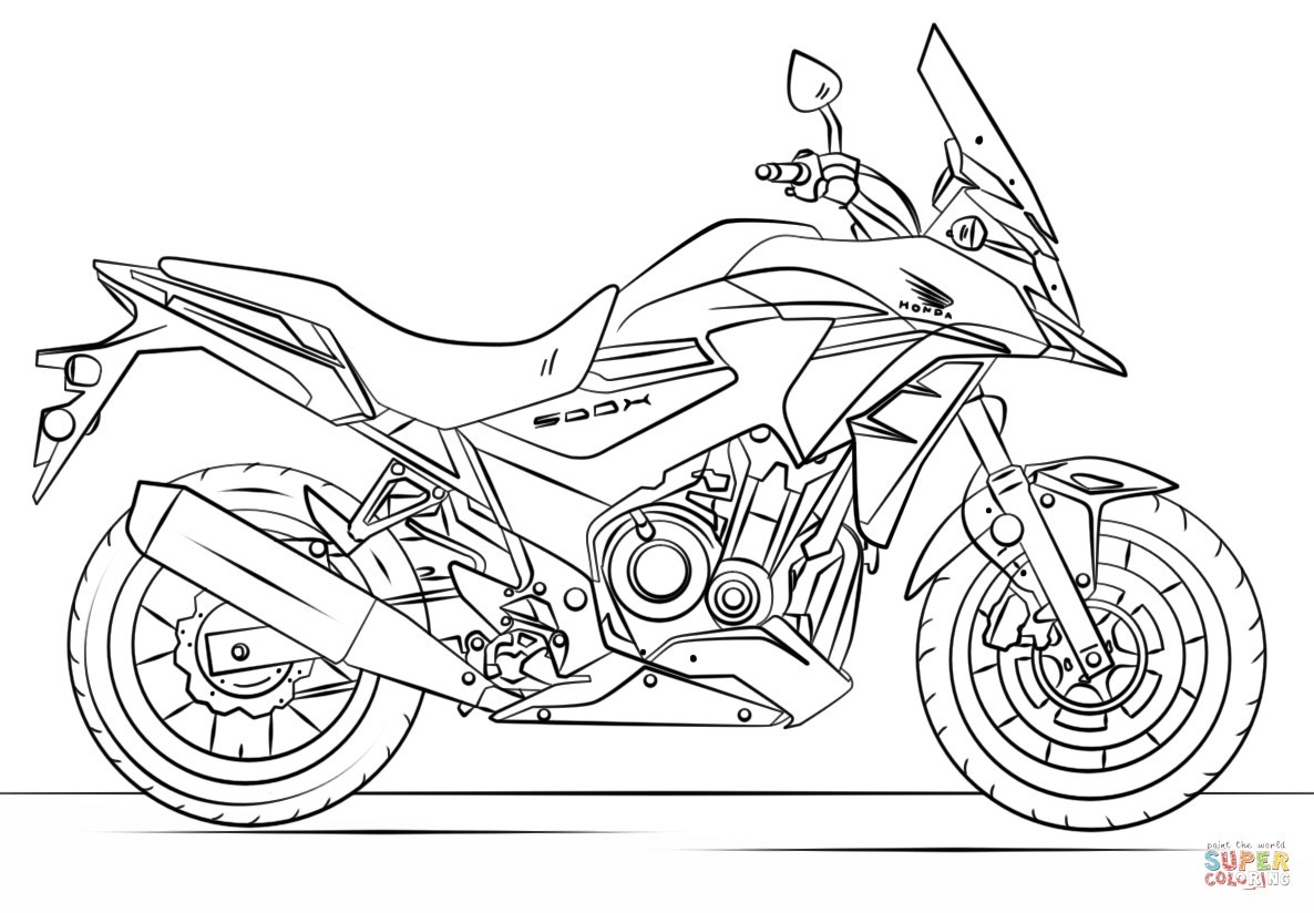 Dirt Bike Coloring Pages At Getcolorings