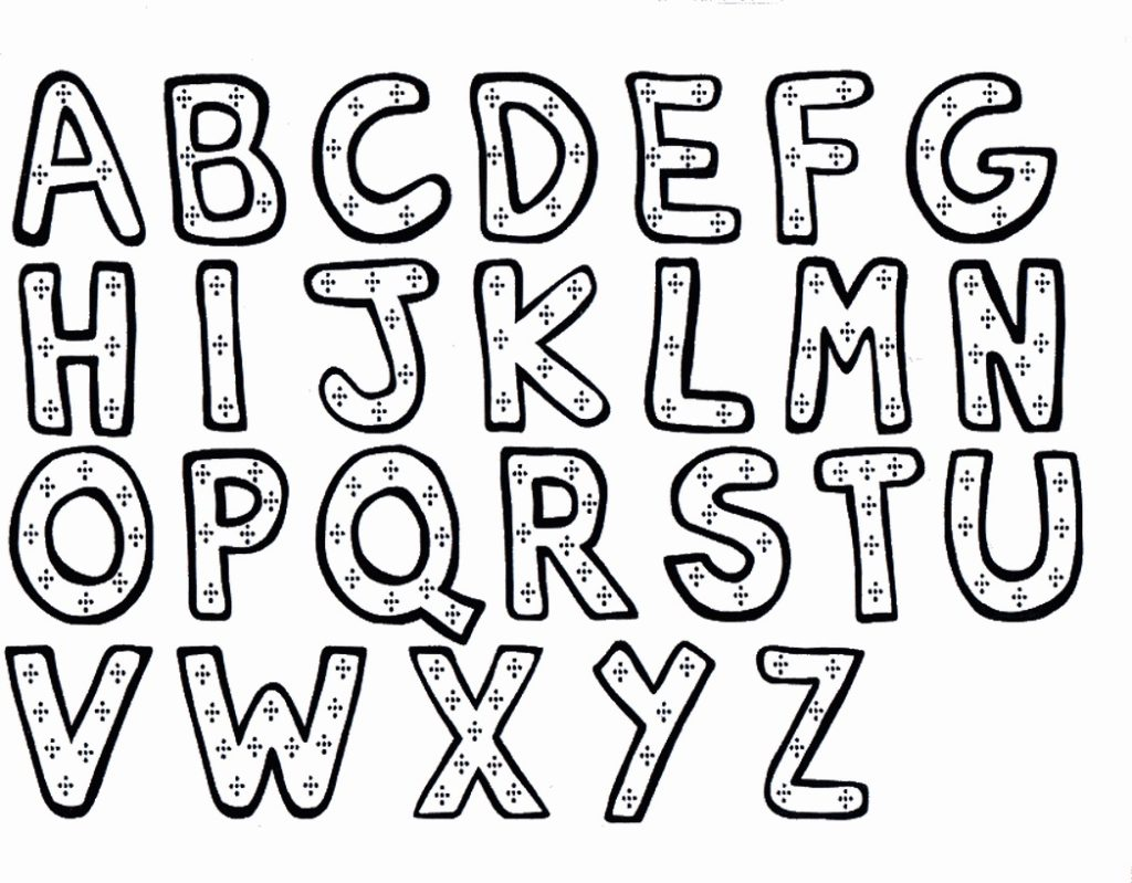Disney Alphabet Coloring Pages At Getcolorings