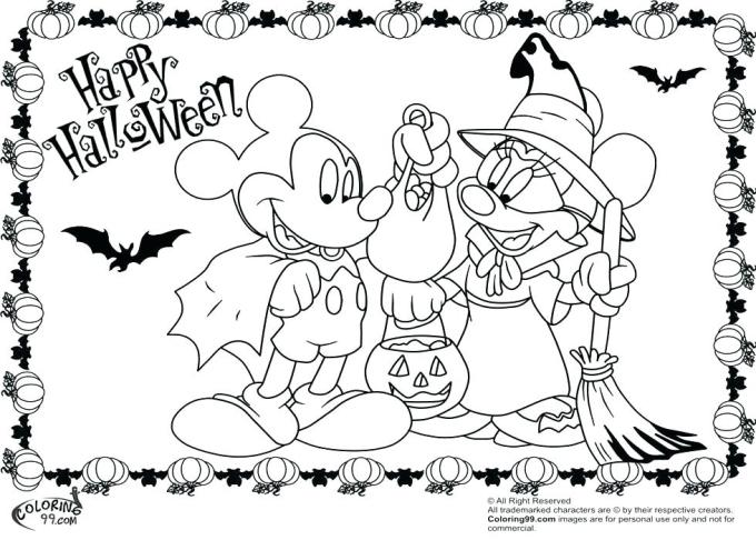 Disney Halloween Coloring Pages Printable At Getcolorings Com Free