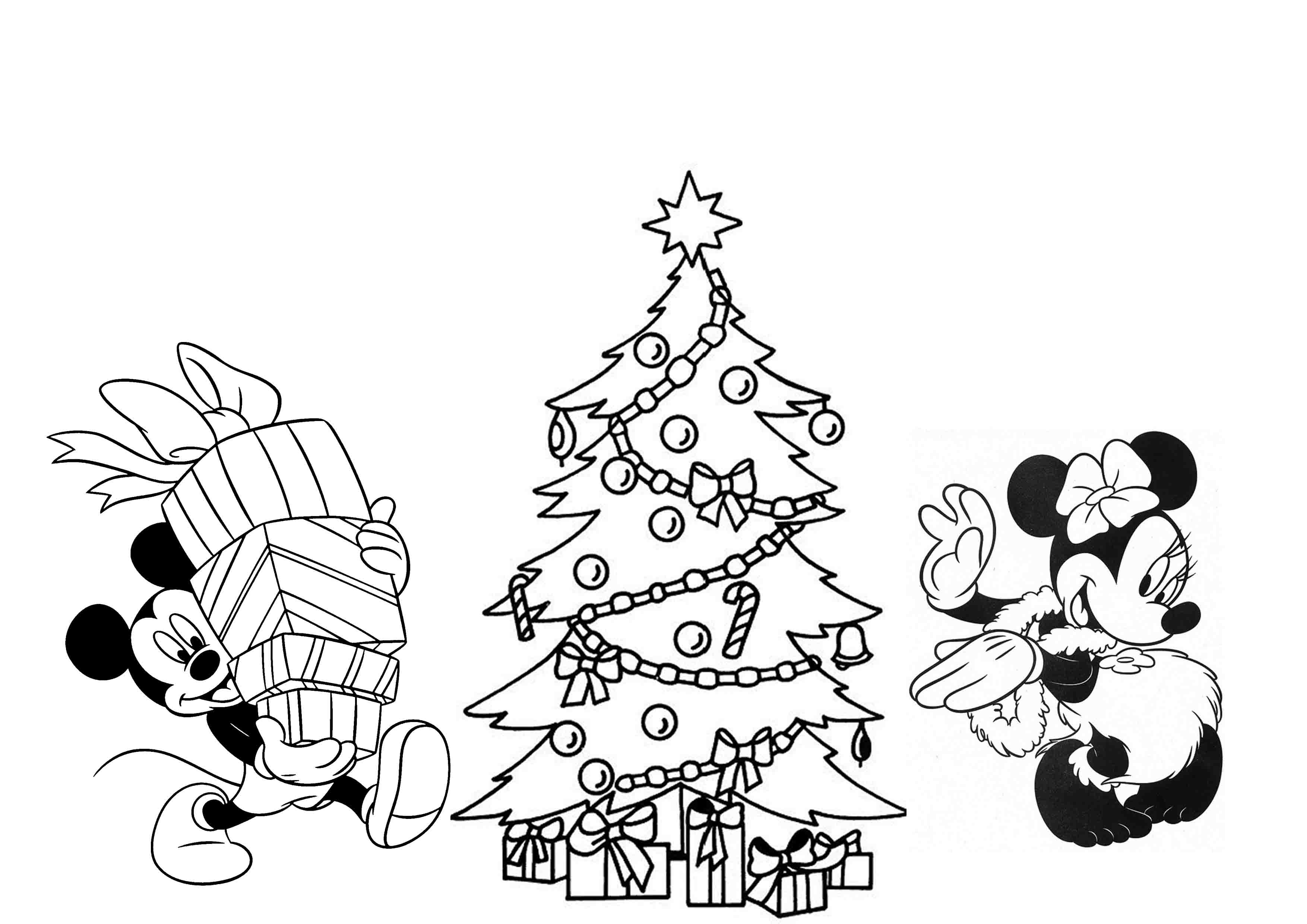Disney Merry Christmas Coloring Pages At Getcolorings