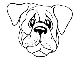 Dog Head Coloring Pages at GetColorings.com   Free ...