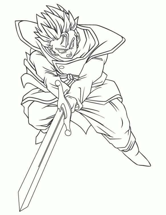 Dragon Ball Z Characters Coloring Pages at GetColorings