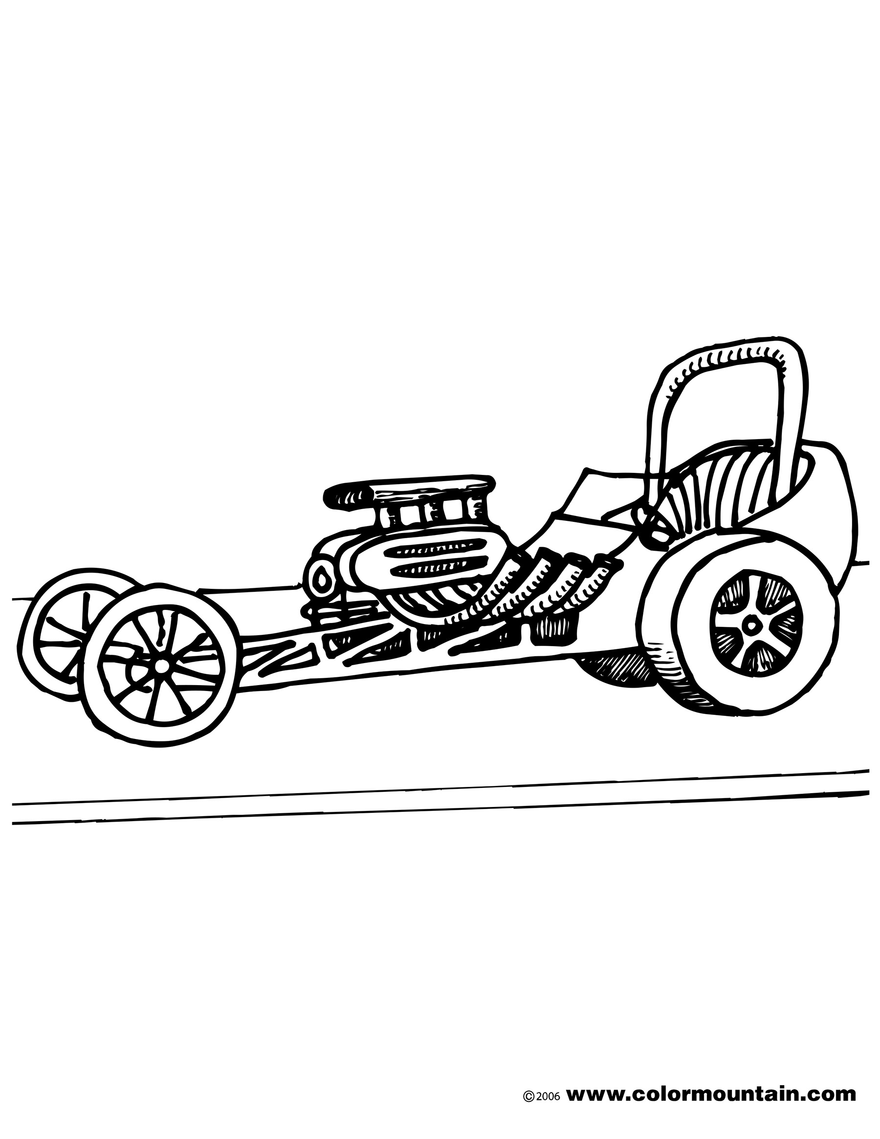 Dragster Coloring Pages At Getcolorings