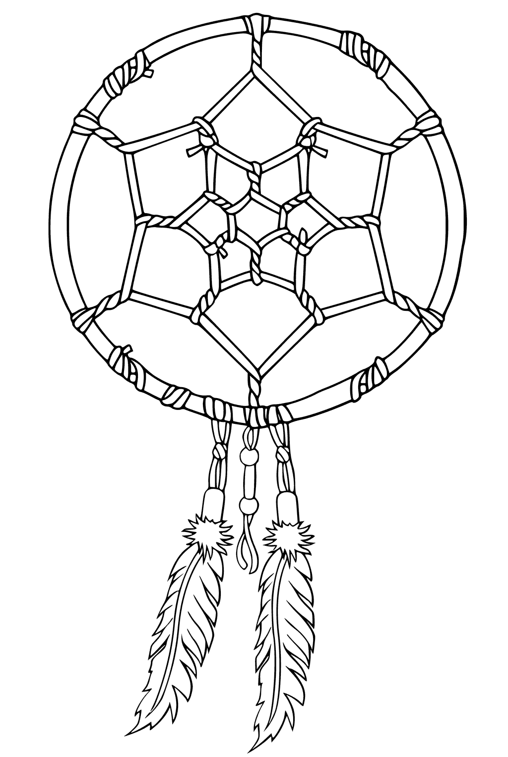Dreamcatcher Printable Coloring Pages At Getcolorings