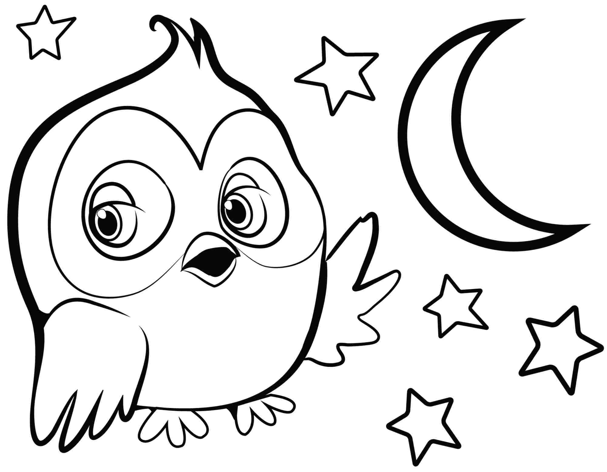 Easy Animal Coloring Pages For Kids At Getcolorings