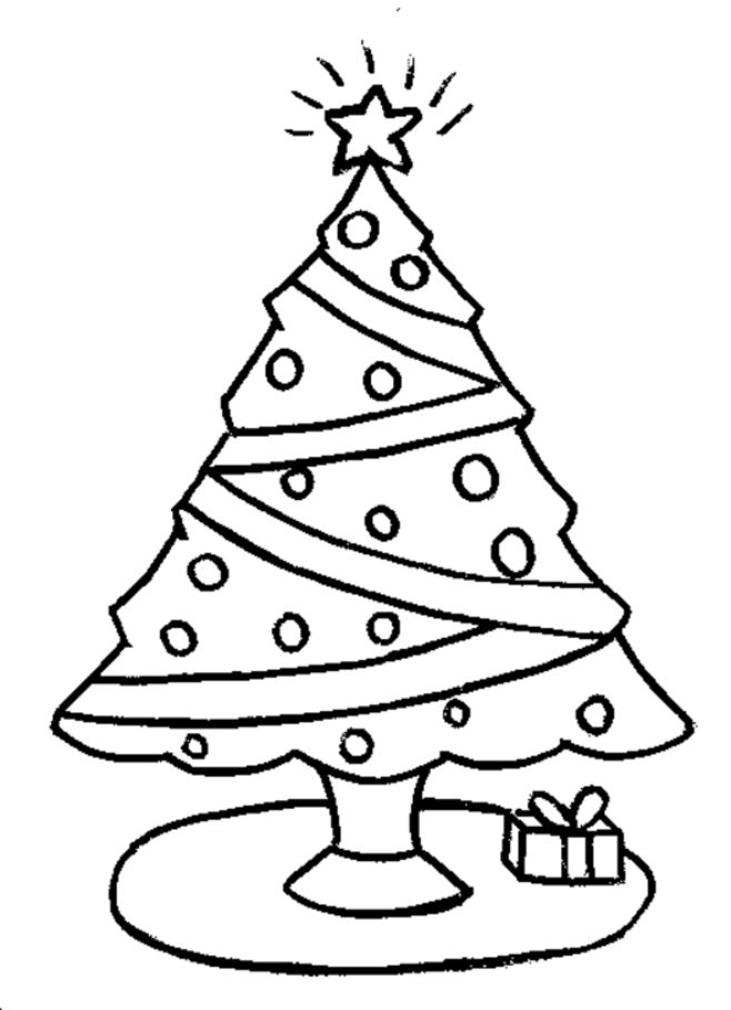 Easy Christmas Coloring Pages For Kids at GetColorings.com