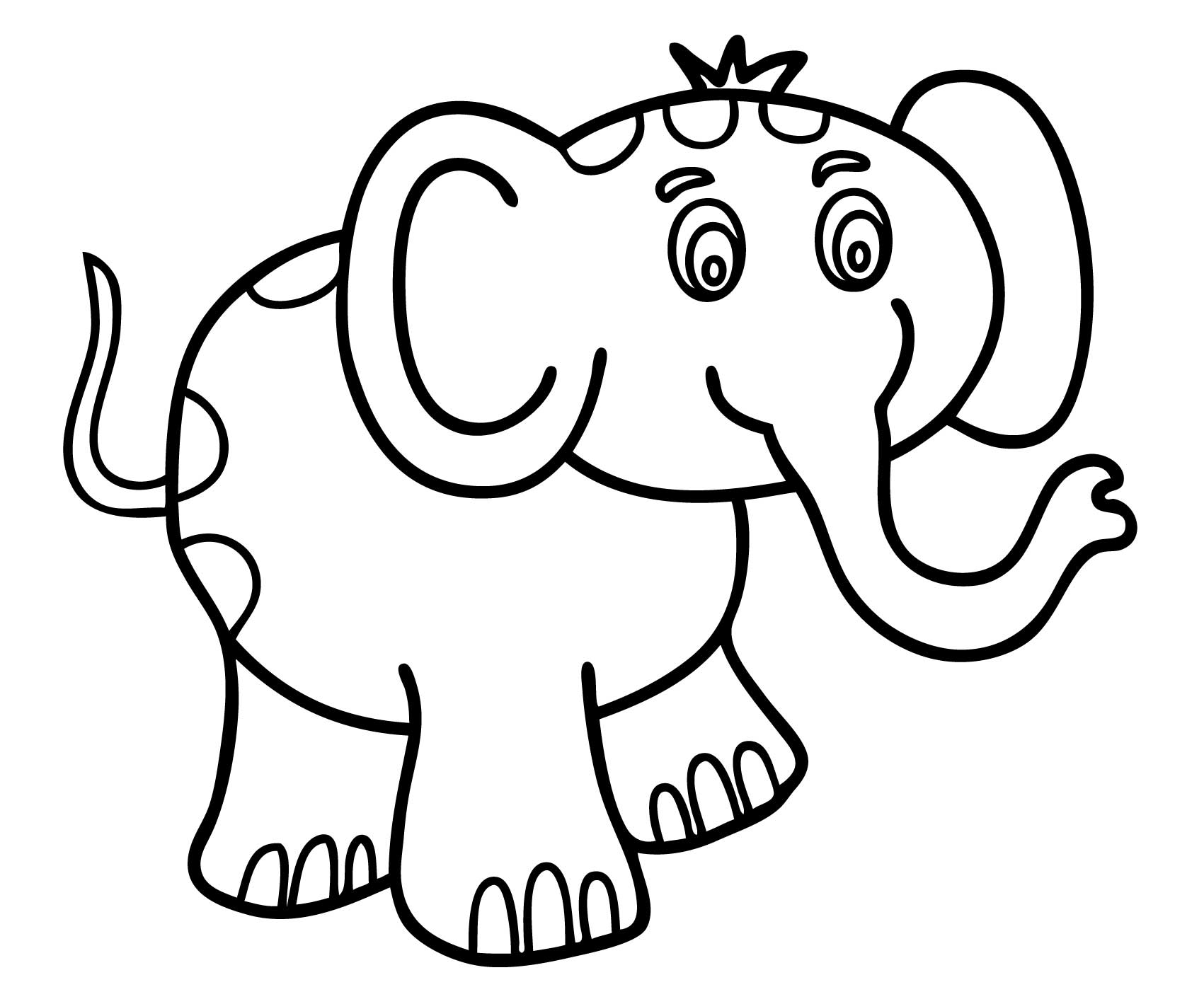 Easy Coloring Pages For Kids At Getcolorings