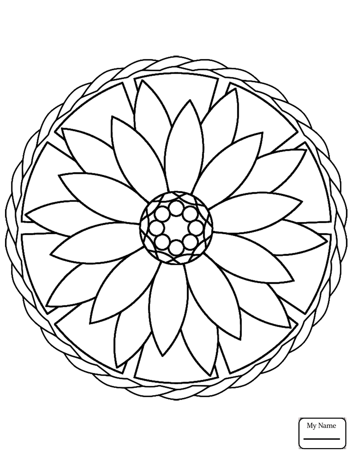 Easy Mandala Coloring Pages At Getcolorings