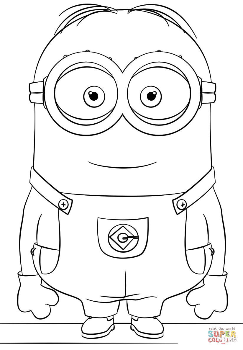 Easy Minion Coloring Pages at GetColorings Free
