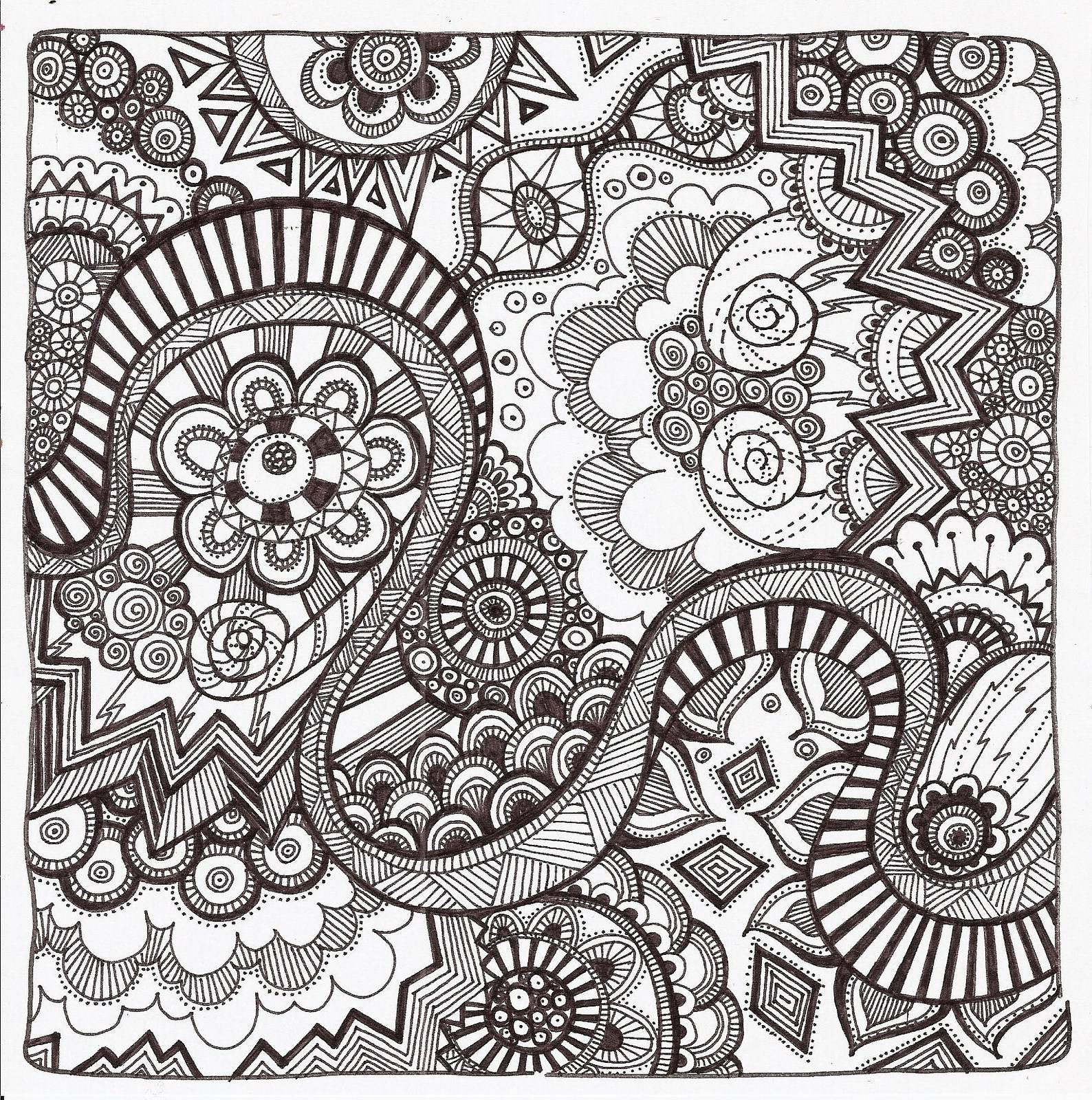 Easy Zentangle Coloring Pages At Getcolorings