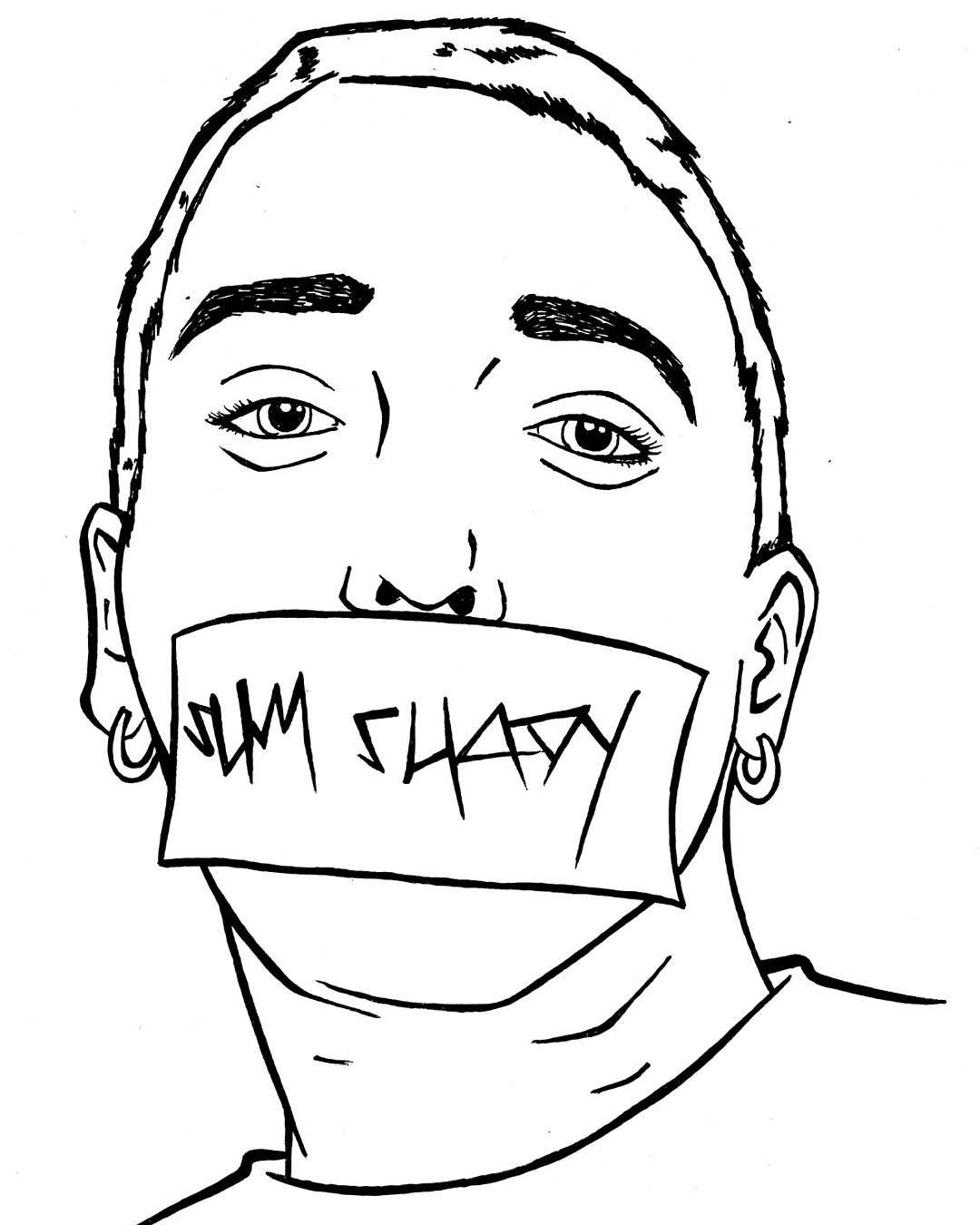 Coloring Page Eminem Famous People Coloring Pages