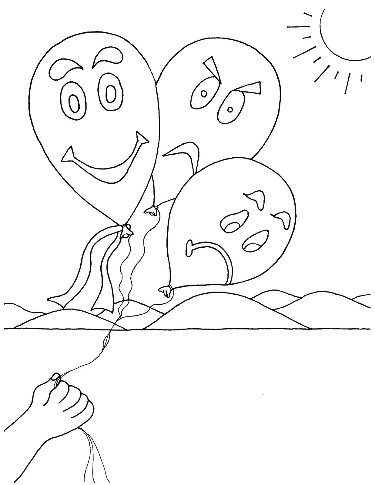 Emotions Coloring Pages At Getcolorings