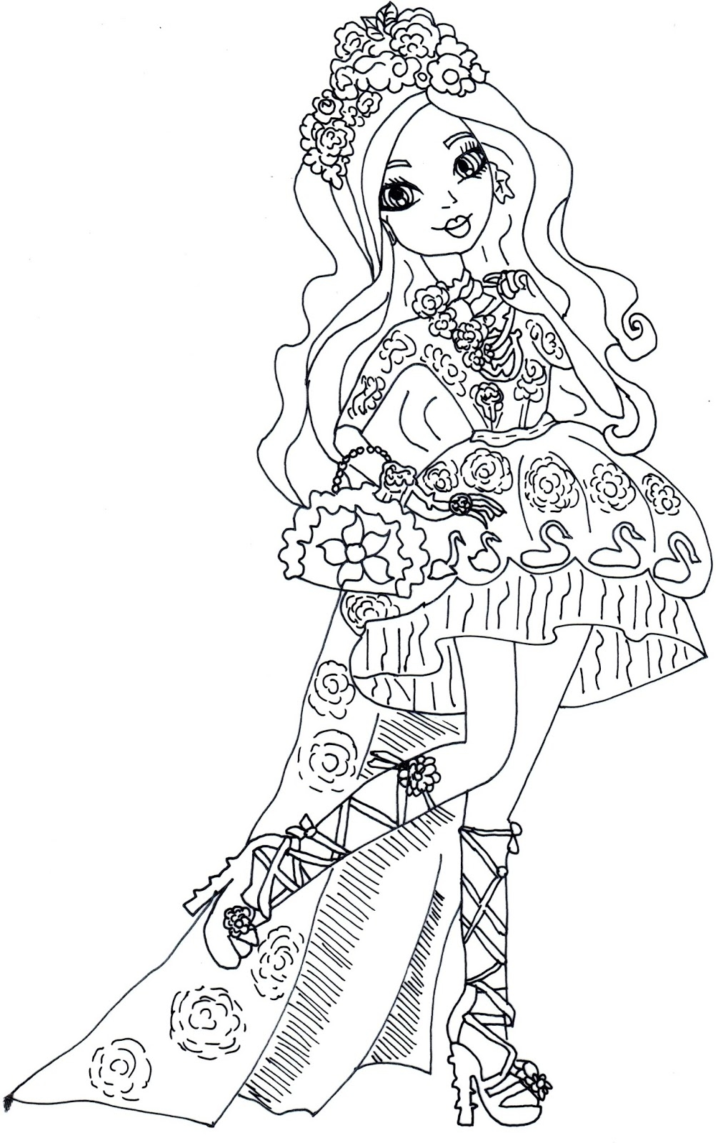 Ever After High Coloring Pages Dragon Games at