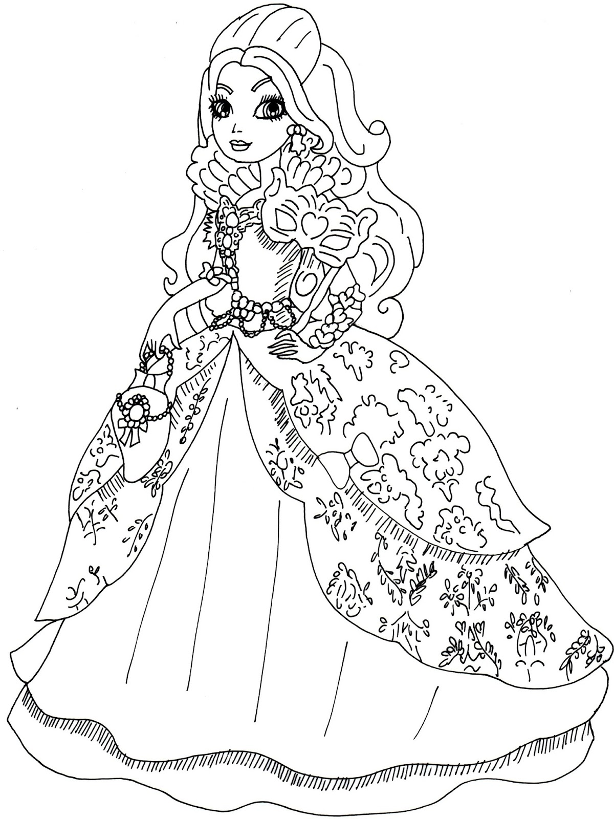 Ever After High Coloring Pages Cerise Hood at GetColorings