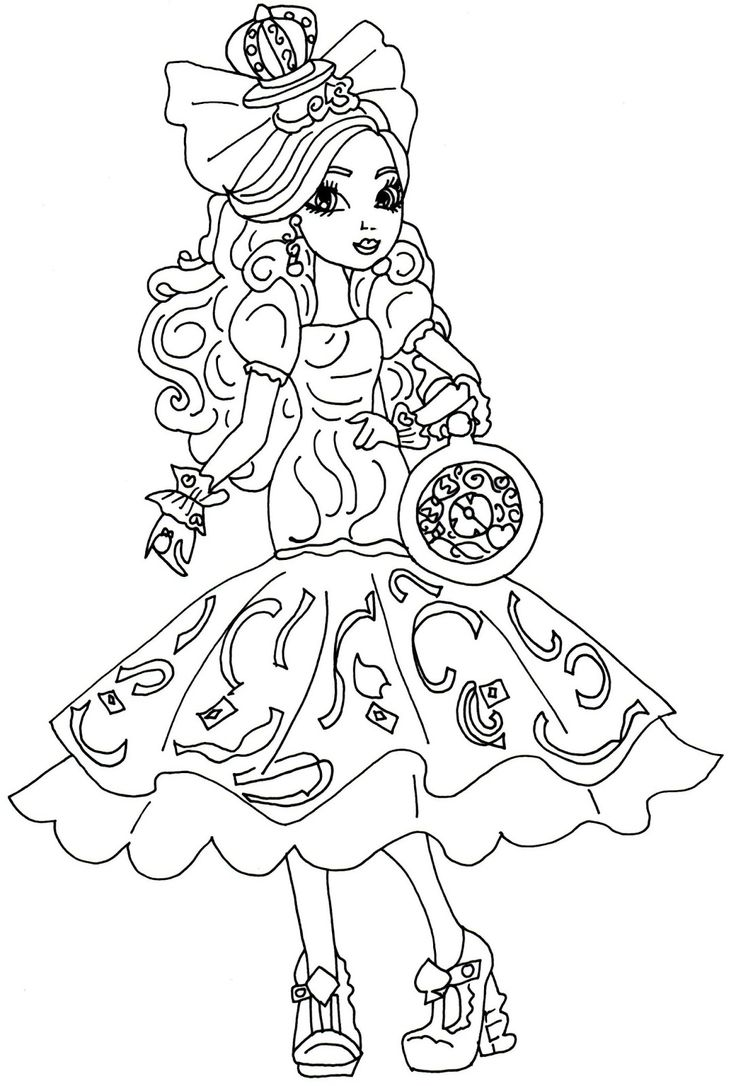 Ever After High Raven Queen Coloring Pages at GetColorings