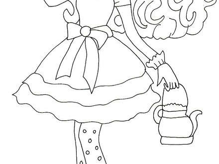 Ever After High Coloring Pages Kitty Cheshire at