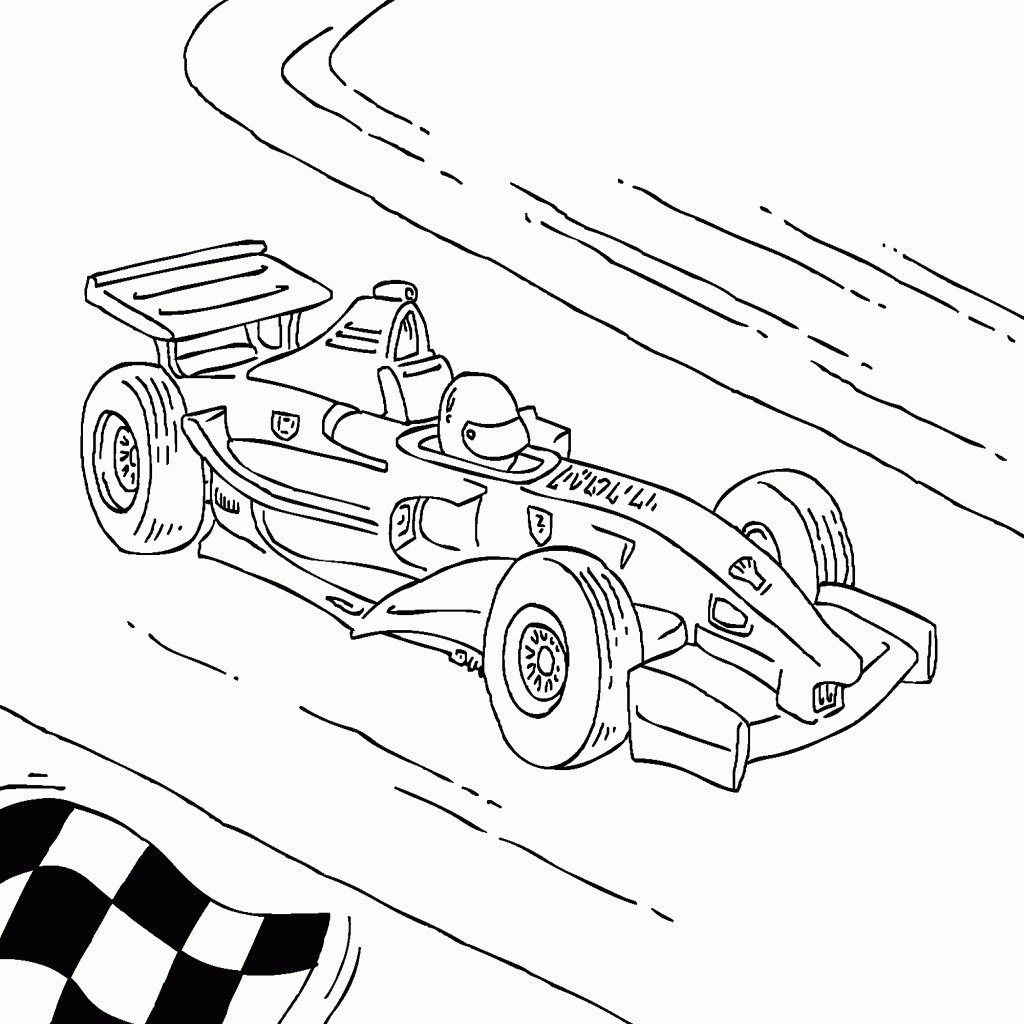 F1 Car Coloring Pages At Getcolorings