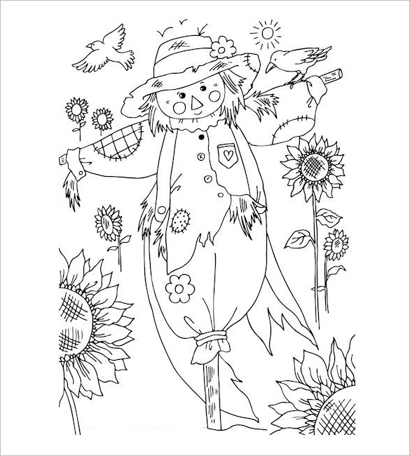 Autumn Kids Coloring Pdf
