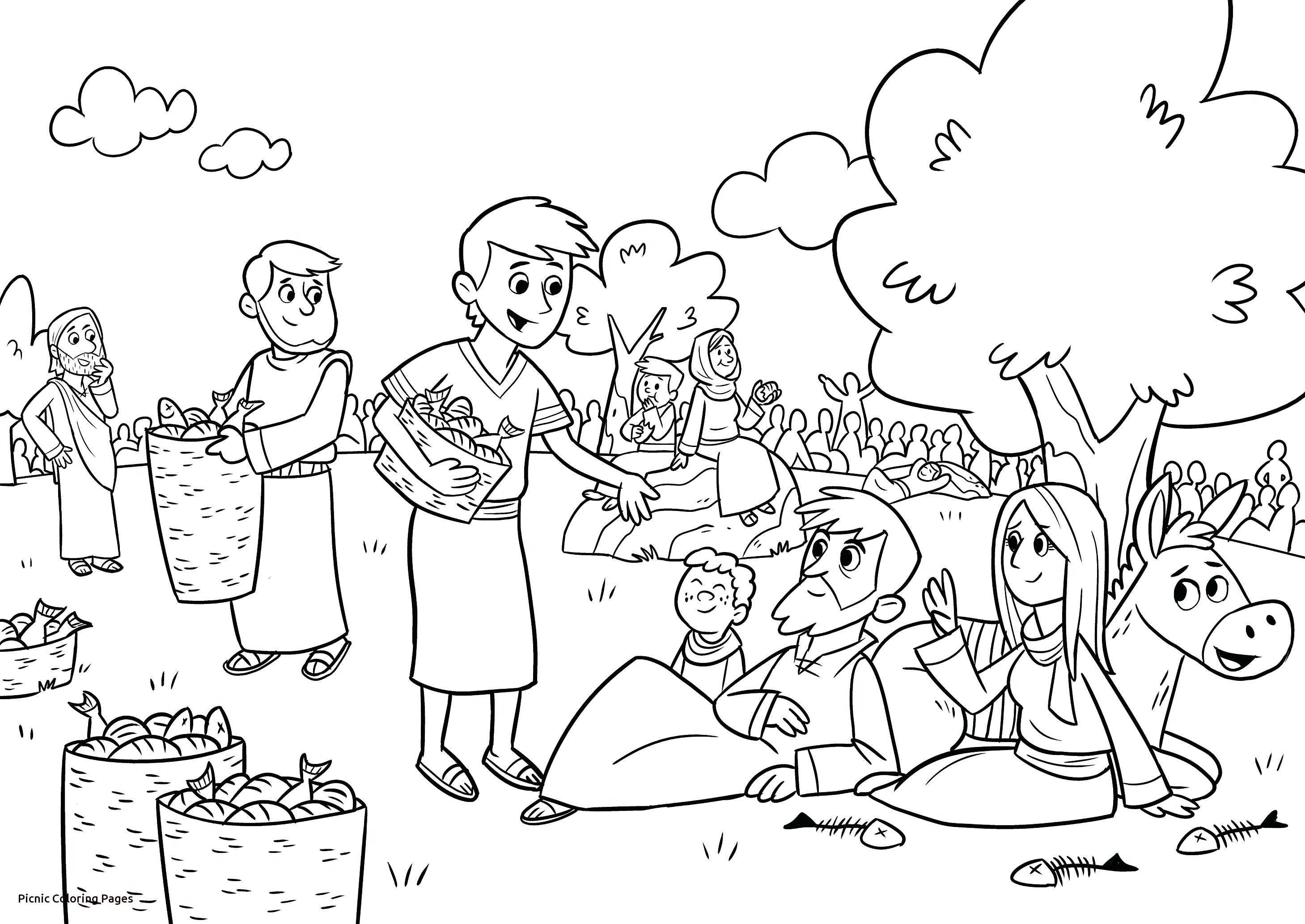 Family Picnic Coloring Pages At Getcolorings