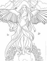 Fantasy Coloring Pages For Adults at GetColorings.com ...