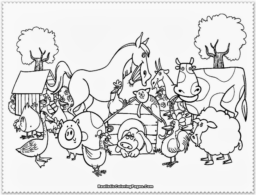 Farm Scene Coloring Pages At Getcolorings