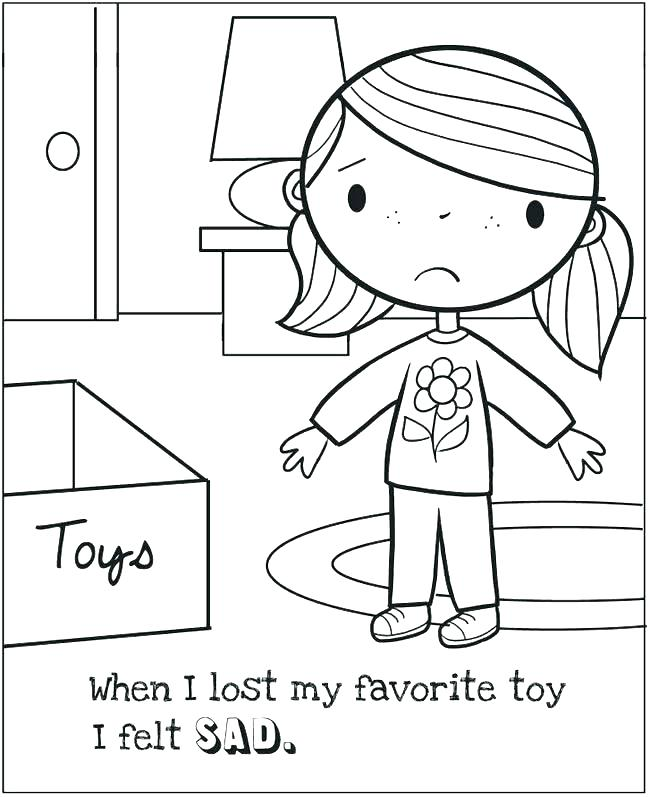 Emotions And Feelings Coloring Pages Printable Educations