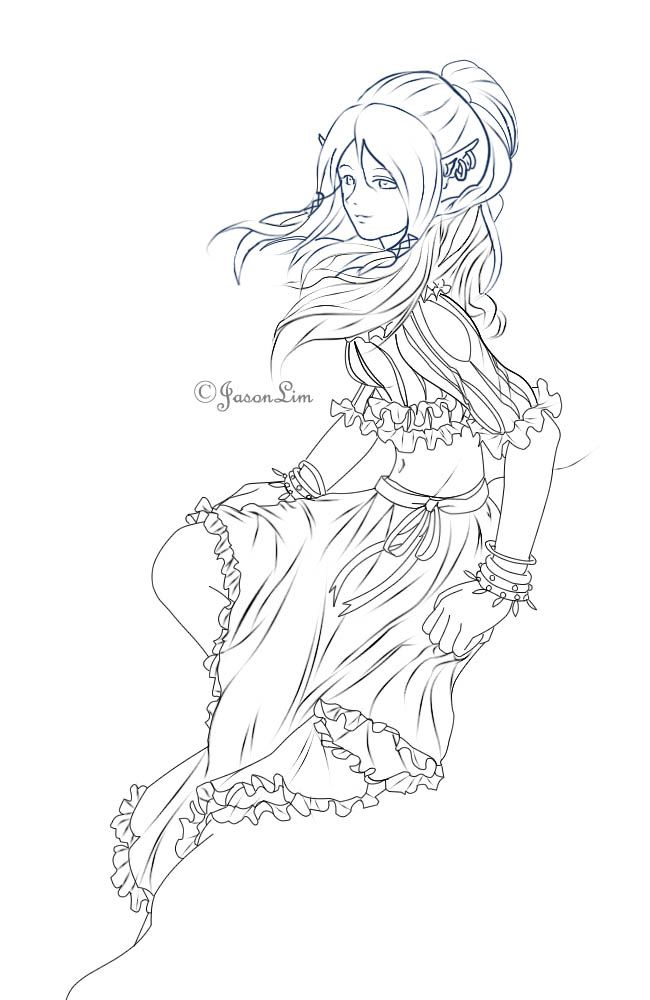 female elf coloring pages at getcolorings  free