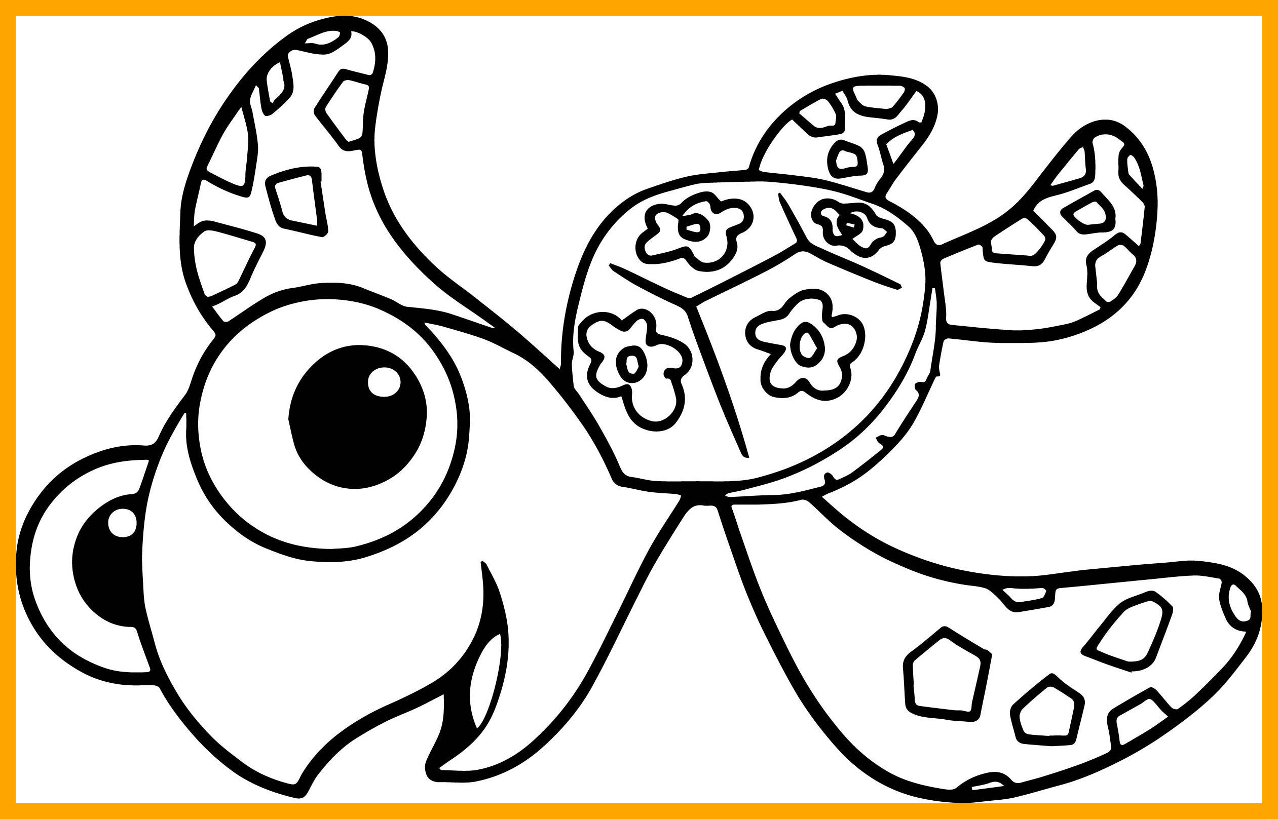 Finding Nemo Turtle Coloring Pages At Getcolorings