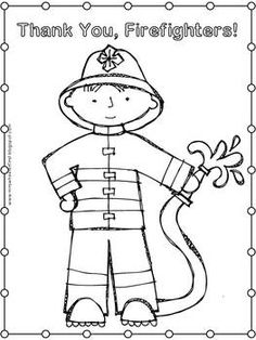 Firefighter Coloring Pages For Preschoolers at