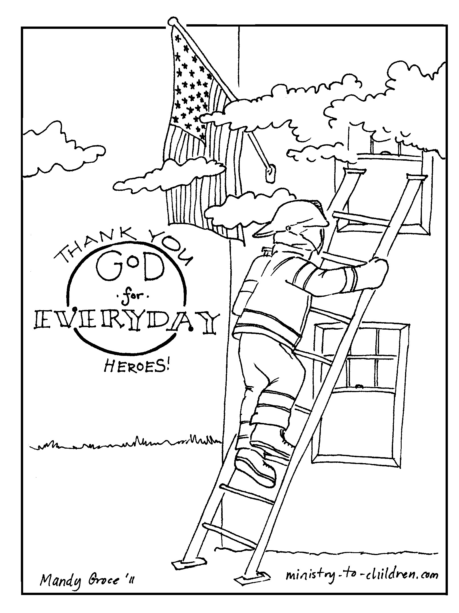 Firefighter Coloring Pages For Preschoolers At Getcolorings