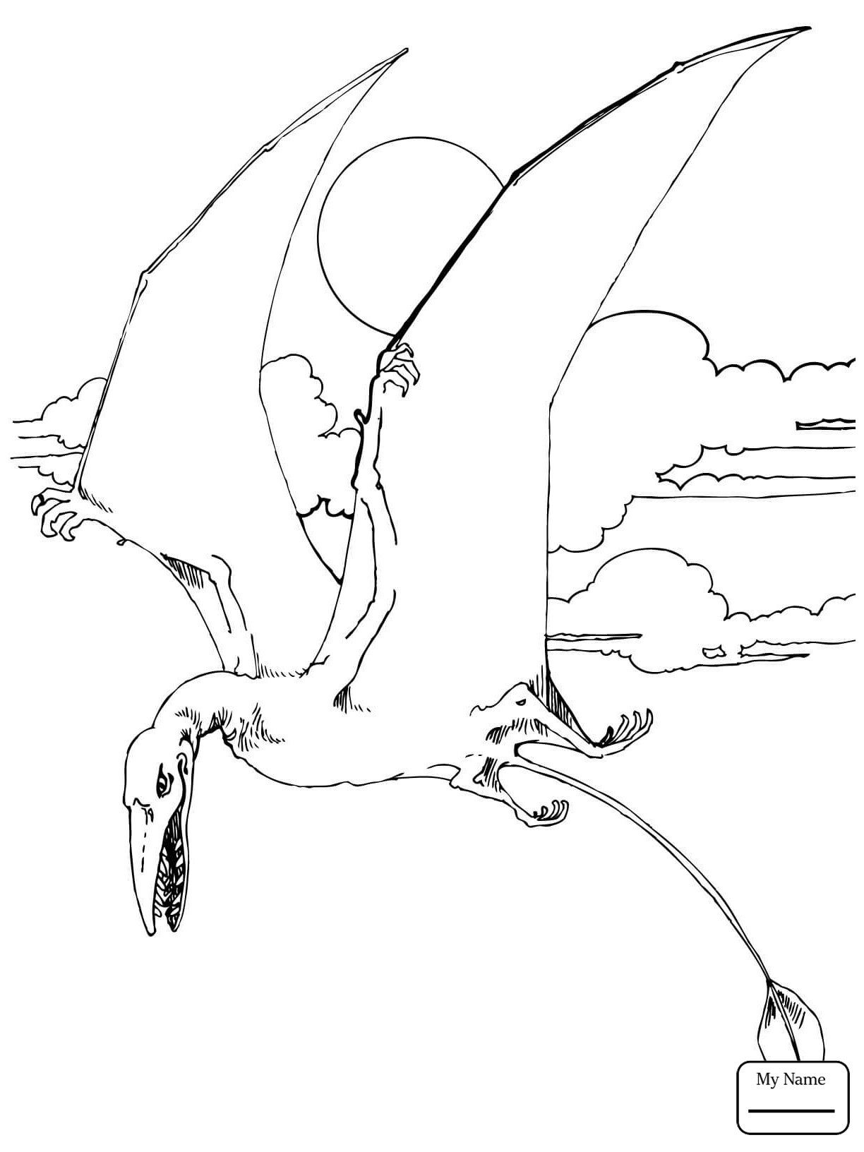 Flying Dinosaur Coloring Pages At Getcolorings